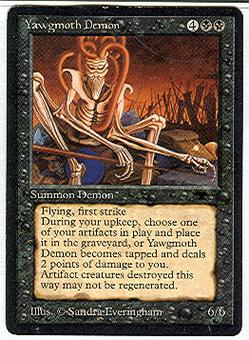 Magic the Gathering Antiquities Single Yawgmoth Demon - SLIGHT PLAY (SP)