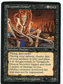 Magic the Gathering Antiquities Single Yawgmoth Demon - NEAR MINT (NM)