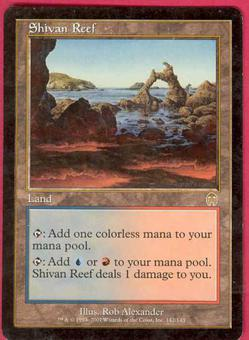 Magic the Gathering Apocalypse Single Shivan Reef - SLIGHT PLAY (SP)