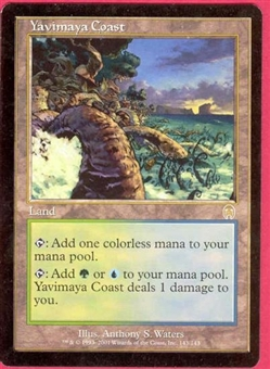 Magic the Gathering Apocalypse Single Yavimaya Coast - MODERATE PLAY (MP)