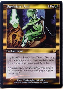 Magic the Gathering Apocalypse Single Pernicious Deed Foil