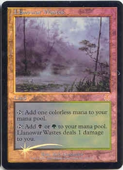 Magic the Gathering Apocalypse Single Llanowar Wastes FOIL