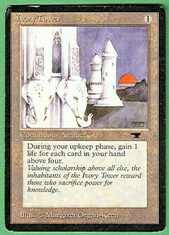 Magic the Gathering Antiquities Single Ivory Tower - MODERATE PLAY (MP)