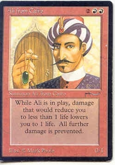 Magic the Gathering Arabian Nights Single Ali from Cairo MODERATE PLAY (VG/EX)