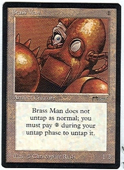 Magic the Gathering Arabian Nights Single Brass Man UNPLAYED (NM/MT)