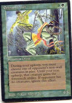 Magic the Gathering Arabian Nights Single Erhnam Djinn MODERATE PLAY (VG/EX)