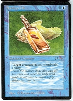 Magic the Gathering Arabian Nights Singles 4x Fishliver Oil (a) UNPLAYED (NM/MT)