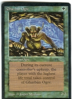 Magic the Gathering Arabian Nights Single Ghazban Ogre - NEAR MINT (NM)