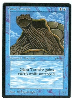 Magic the Gathering Arabian Nights Single Giant Tortoise (b) UNPLAYED (NM/MT)