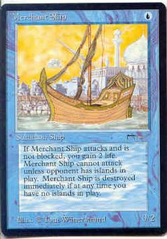 Magic the Gathering Arabian Nights Single Merchant Ship - NEAR MINT (NM)