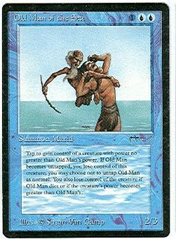 Magic the Gathering Arabian Nights Single Old Man of the Sea - MODERATE PLAY (MP)