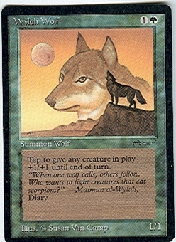 Magic the Gathering Arabian Nights Single Wyluli Wolf (b) - NEAR MINT (NM)