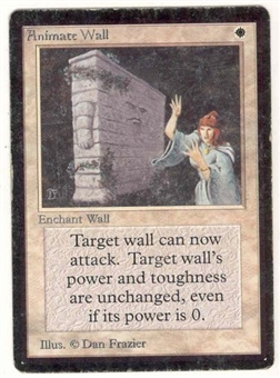 Magic the Gathering Beta Single Animate Wall MODERATE PLAY (VG/EX)
