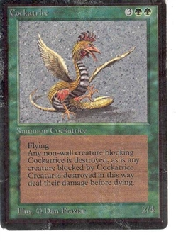 Magic the Gathering Beta Single Cockatrice - MODERATE PLAY (MP)