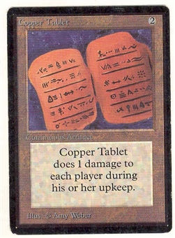 Magic the Gathering Beta Single Copper Tablet - SLIGHT PLAY (SP)
