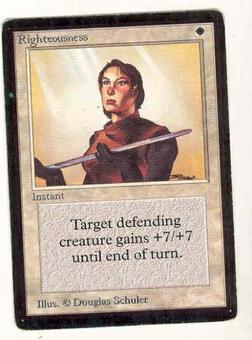 Magic the Gathering Beta Single Righteousness - SLIGHT PLAY (SP)