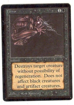 Magic the Gathering Beta Single Terror - SLIGHT PLAY (SP)