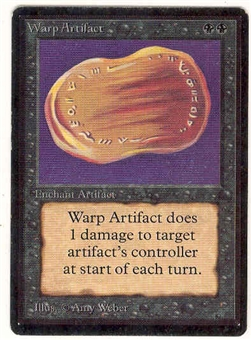 Magic the Gathering Beta Single Warp Artifact LIGHT PLAY (NM)
