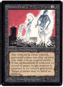 Magic the Gathering Beta Single Animate Dead - NEAR MINT (NM)