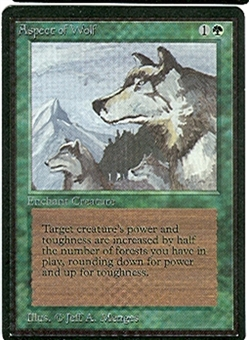 Magic the Gathering Beta Single Aspect of Wolf UNPLAYED (NM/MT)