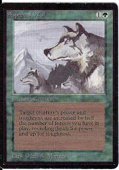 Magic the Gathering Beta Single Aspect of Wolf - SLIGHT PLAY (SP)