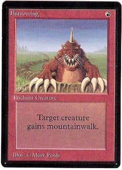 Magic the Gathering Beta Single Burrowing - SLIGHT PLAY (SP)