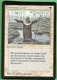 Magic the Gathering Beta Single Consecrate Land - NEAR MINT (NM)