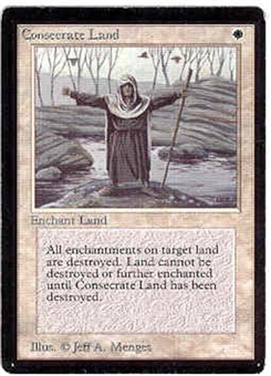 Magic the Gathering Beta Single Consecrate Land - SLIGHT PLAY (SP)