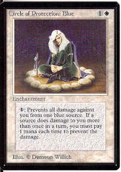 Magic the Gathering Beta Single Circle of Protection: Blue - NEAR MINT (NM)