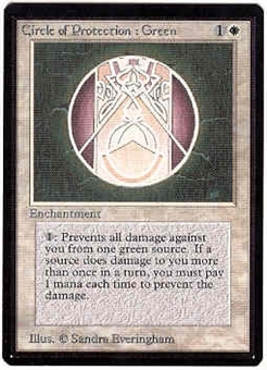 Magic the Gathering Beta Single Circle of Protection: Green - NEAR MINT (NM)