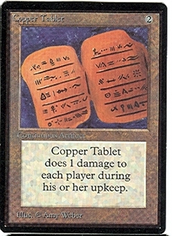 Magic the Gathering Beta Single Copper Tablet - NEAR MINT (NM)