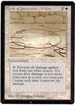Magic the Gathering Beta Single Circle of Protection: White - NEAR MINT (NM)