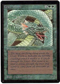 Magic the Gathering Beta Single Craw Wurm UNPLAYED (NM/MT)