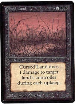 Magic the Gathering Beta Single Cursed Land - NEAR MINT (NM)