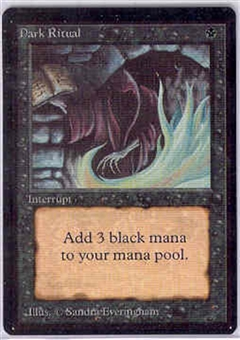 Magic the Gathering Beta Single Dark Ritual - NEAR MINT (NM)