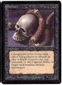 Magic the Gathering Beta Single Deathlace - NEAR MINT (NM)