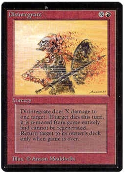 Magic the Gathering Beta Singles 4x Disintegrate - NEAR MINT (NM)
