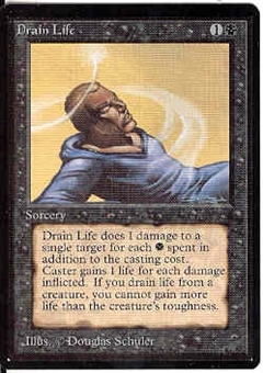 Magic the Gathering Beta Single Drain Life - NEAR MINT (NM)