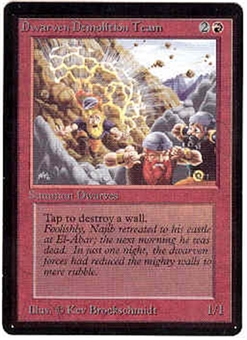 Magic the Gathering Beta Single Dwarven Demolition Team UNPLAYED (NM/MT)