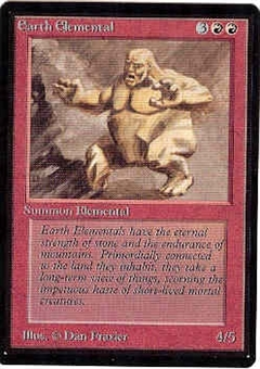 Magic the Gathering Beta Single Earth Elemental - NEAR MINT (NM)