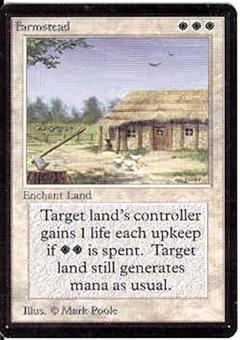Magic the Gathering Beta Single Farmstead UNPLAYED (NM/MT)