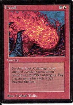 Magic the Gathering Beta Single Fireball - SLIGHT PLAY (SP)