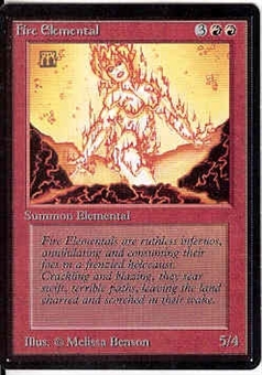 Magic the Gathering Beta Single Fire Elemental - NEAR MINT (NM)