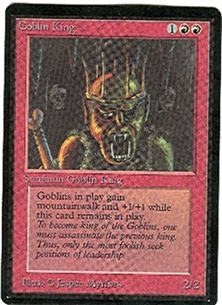 Magic the Gathering Beta Single Goblin King - NEAR MINT (NM)