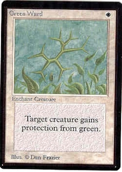 Magic the Gathering Beta Single Green Ward - MODERATE PLAY (MP)