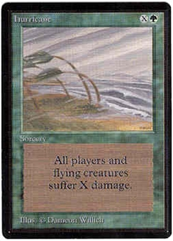 Magic the Gathering Beta Single Hurricane UNPLAYED (NM/MT)