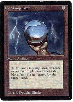 Magic the Gathering Beta Single Icy Manipulator - MODERATE PLAY (MP)