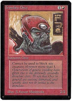 Magic the Gathering Beta Singles 4x Ironclaw Orcs - NEAR MINT (NM)