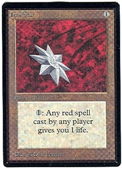 Magic the Gathering Beta Single Iron Star - NEAR MINT (NM)