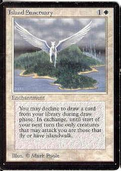 Magic the Gathering Beta Single Island Sanctuary - SLIGHT PLAY (SP)